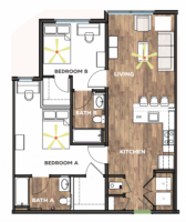 2 Bedroom 2 Bath Apartment Available @ West Edge